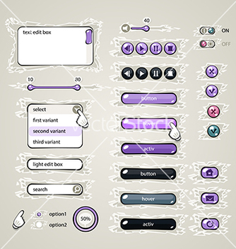Free web design elements violet vector - vector #238259 gratis