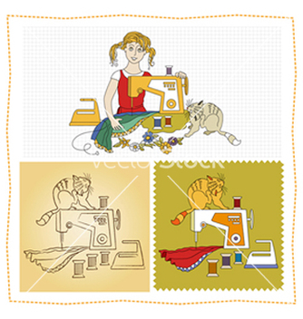 Free needlework7 vector - бесплатный vector #238279