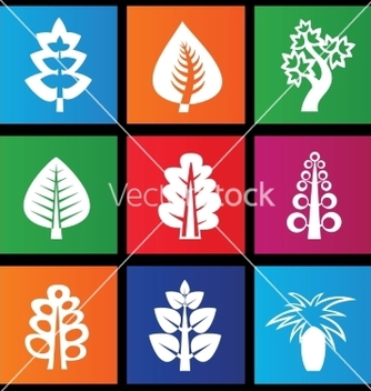 Free trees icons vector - Free vector #238309