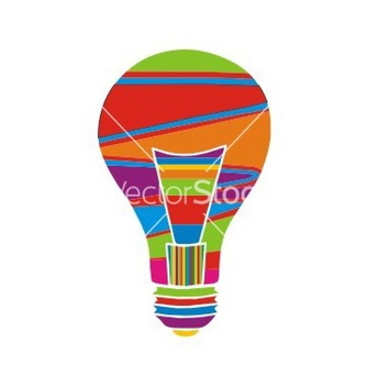 Free colorfull bulb vector - Free vector #238389