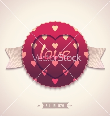 Free oldfashioned label for love vector - Free vector #238429