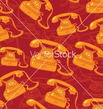 Free seamless background with vintage phone vector - Free vector #238449