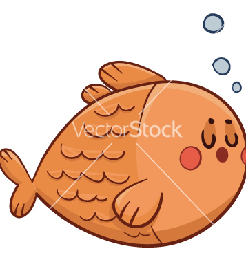 Free cute fish swimming vector - Free vector #238469