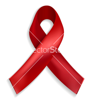 Free red ribbon a symbol of the fight against aids vector - vector gratuit #238509