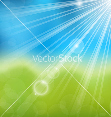 Free spring nature background with lens flare vector - vector gratuit #238539