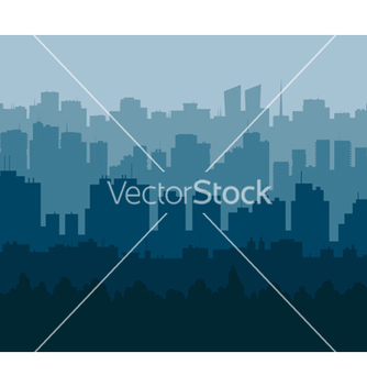Free blue city vector - Free vector #238589