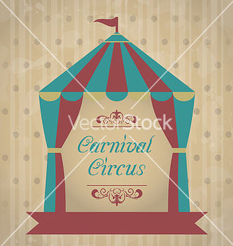 Free vintage carnival poster for your advertising vector - Free vector #238699