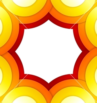 Free abstract red and orange circles background vector - бесплатный vector #238709