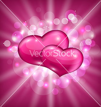 Free valentines shimmering background with beautiful vector - Free vector #238739