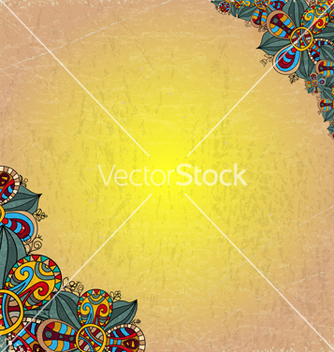 Free floral decorative background on old sheet of paper vector - Free vector #238799