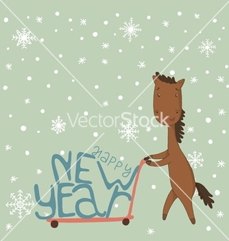 Free card with a horse vector - vector gratuit #238829