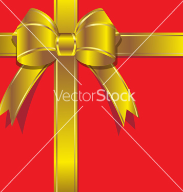 Free luxurious gift with gold ribbon vector - Kostenloses vector #238839