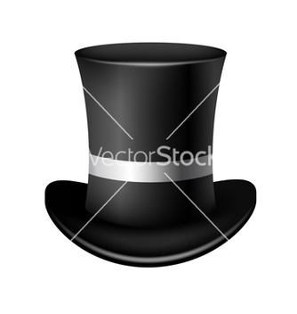 Free classic cylinder hat on a white background vector - Kostenloses vector #238859