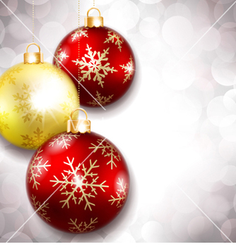 Free christmas balls on a beautiful background vector - Free vector #238989