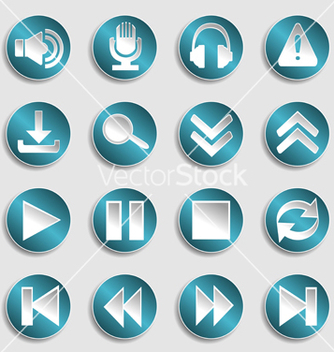 Free set of multimedia icons vector - Kostenloses vector #239099