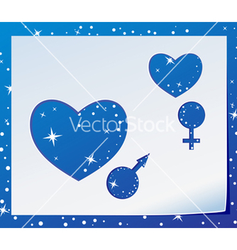 Free two hearts vector - Free vector #239119