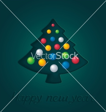 Free abstract green firtree with christmas toys vector - Free vector #239189