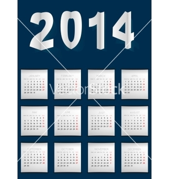 Free calendar for 2014 vector - vector #239209 gratis
