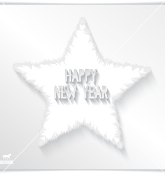 Free happy new year greeting card with 3d star vector - vector #239229 gratis