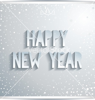 Free happy new year white lettering on grey background vector - Free vector #239259