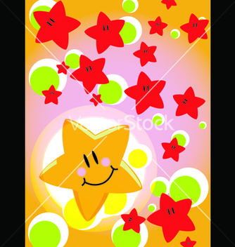 Free greeting card star vector - Kostenloses vector #239309