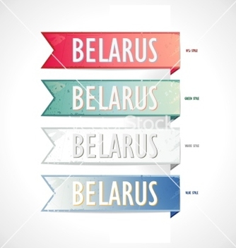 Free ribbon set strips belarus in retro style vector - Free vector #239339