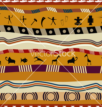 Free seamless pattern in tribal style with figures vector - vector #239349 gratis