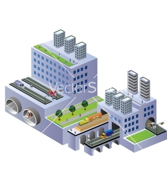 Free isometric buildings vector - vector #239379 gratis
