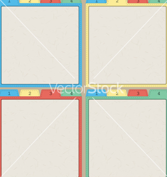 Free colorful papers templates vector - Free vector #239439