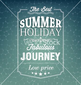 Free best summer holiday typography background vector - vector #239479 gratis