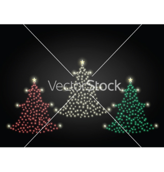 Free red gold and green christmas trees vector - vector gratuit #239589