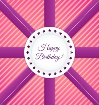 Free happy birthday postcard vector - vector #239619 gratis