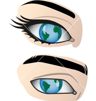 Free earth in the human eye vector - Free vector #240029