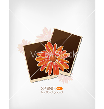 Free floral background vector - Free vector #240139