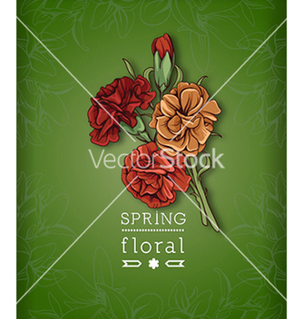 Free floral background vector - Free vector #240229