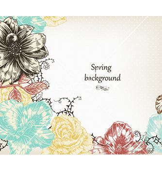 Free floral background vector - Free vector #240279