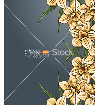 Free floral background vector - Free vector #240409