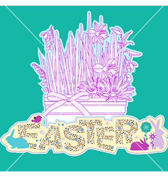 Free floral easter background vector - Kostenloses vector #240429