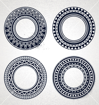 Free polynesian circle patterns vector - Free vector #240469