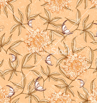 Free seamless floral background vector - Free vector #240629
