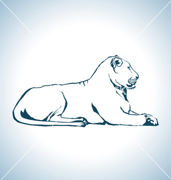 Free lion drawing vector - Free vector #240709