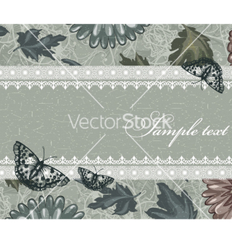 Free vintage floral background vector - Kostenloses vector #240879