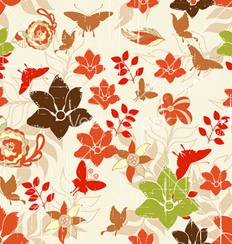 Free seamless floral background vector - Kostenloses vector #240959