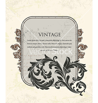 Free vintage frame with floral vector - Free vector #240969