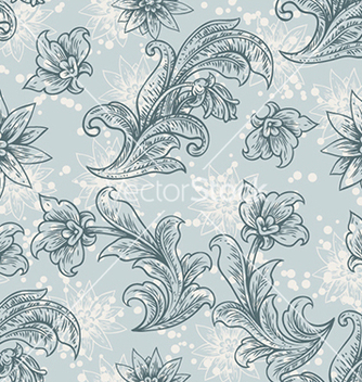 Free seamless floral background vector - Kostenloses vector #241019