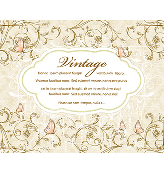 Free vintage floral background vector - Kostenloses vector #241089