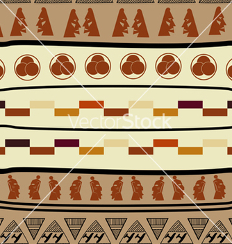 Free seamless pattern with african elements vector - Free vector #241169
