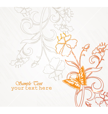 Free floral background vector - Free vector #241459