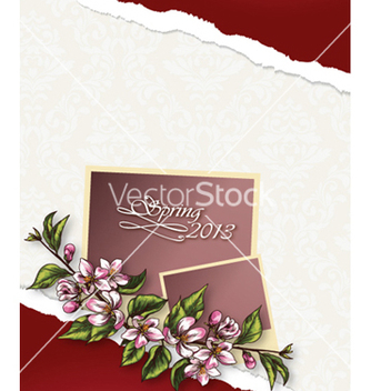 Free floral background vector - Free vector #241499