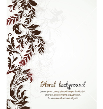 Free floral background vector - Free vector #241549